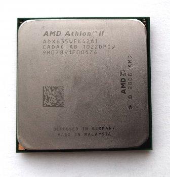 Процесор AMD Athlon II X4 635 2,9 GHz sAM3 Tray 95w (ADX635WFK42GI ADX635WFK42GM) Propus Б/У