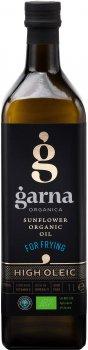 Масло подсолнечное Garna Organica высокоолеиновое рафинированное дезодорированное вымороженное прессовое органическое 1 л (4820044491512)