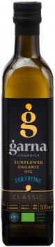 Масло подсолнечное Garna Organica рафинированное дезодорированное вымороженное прессовое органическое 500 мл (4820044491291)