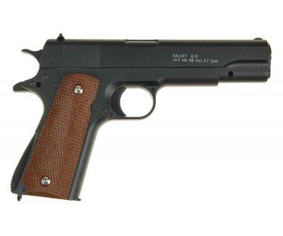 Пистолет страйкбольный Galaxy G13+ с кабурой (Colt M1911 Classic)