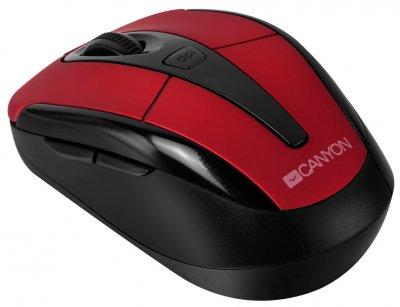 Миша Canyon CNR-MSOW06R Wireless Black/Red