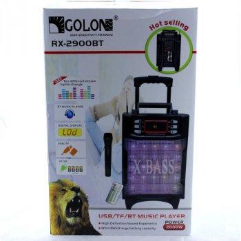 Колонка Комбік Bluetooth MP3 FM Радіомікрофон Пульт ДУ Акустична система Golon RX-2900BT