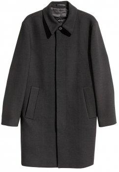 Пальто H&M 3843384RP21 Чорне