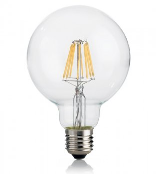 Світлодіодна лампа Ideal Lux Classic E27 8W Globo D95 Trasp 3000K Dimmer (188966)