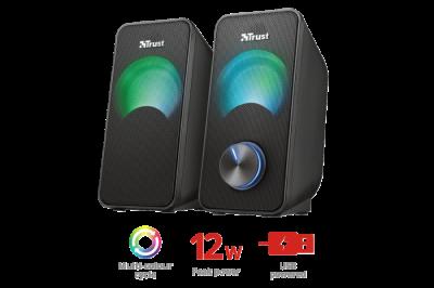 Комплект динаміків Trust Arys Compact RGB 2.0 Speaker Set(23120)
