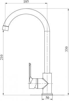 Кухонний змішувач BRINEX 40C 007
