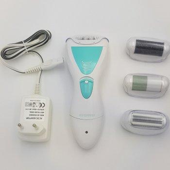 Эпилятор женский 4 в 1 бритва пемза электробритва женская Gemei GM 7006 White (00427)