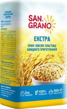 Упаковка пластівців вівсяних SAN GRANO Екстра 500 г х 3 шт. (4820182202629)