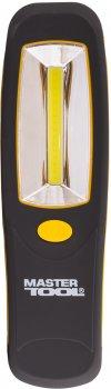 Фонарь магнитный с подвесом Mastertool 210 х 60 х 28 мм, COB LED, 3 x AA, ABS (94-0807)
