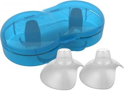 Силіконові накладки Dr. Brown`s для сосків 2 шт. у контейнері для зберігання і стерилізації (BF016)