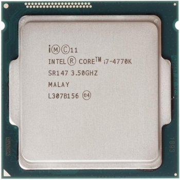 Процесор Intel Core i7-4770K 3.5 GHz/5GT/s/8MB (SR147) s1150, tray