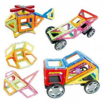 Магнитный конструктор Play Smart цветные магниты, 36 деталей + книга с вариантами сборки