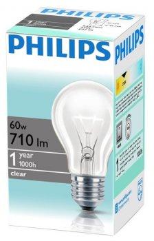 Лампа накаливания Philips Standard E27 60W 230V A55 CL 1CT/12X10 (926000010339R) 15 шт