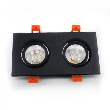 LED світильник ElectroHouse стельовий чорний подвійний 5W кут повороту 45° 4100К