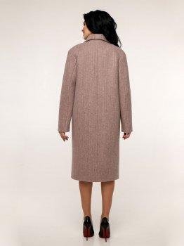 Пальто Favoritti В-1241 Розовое с коричневым
