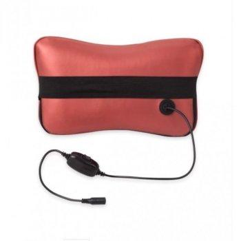 Массажная роликовая подушка с прогревом массажер для спины и шеи Zenet ZET-726