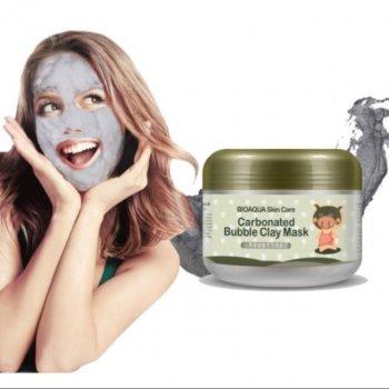 Маска карбоновая, пузырьковая, для очищения лица Bioaqua Carbonated Bubble Clay Mask 100 г