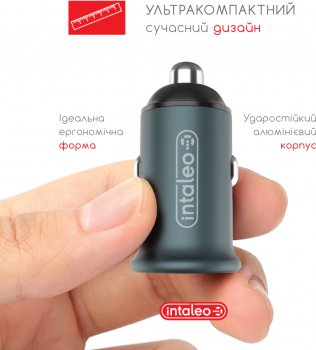 Автомобильное зарядное устройство Intaleo CCGQPD120L Серый (1283126509964)