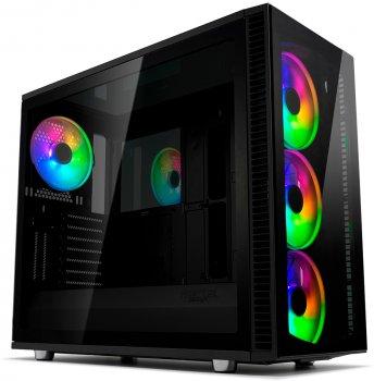Корпус Fractal Design Define S2 Blackout с закаленным стеклом Black (FD-CA-DEF-S2V-RGB-BKO-TGD)