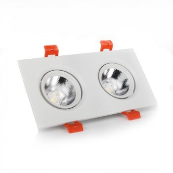 LED світильник ElectroHouse стельовий білий подвійний 5W кут повороту 45° 4100К