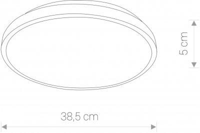 Настінно-стельовий світильник Nowodvorski NW-9160 Agnes round LED
