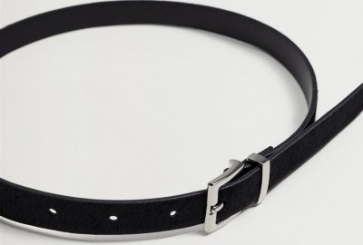 Женский ремень кожаный Mango 87010072-99 95 см (L) (8445306130549)