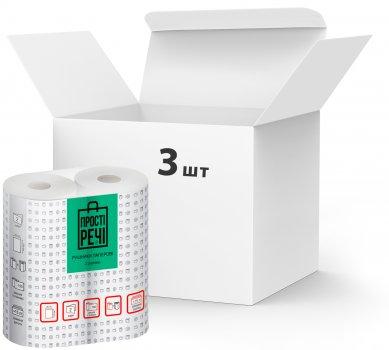 Упаковка паперових рушників Прості речі двошарові 3 пачки по 2 рулони (4820201210901)