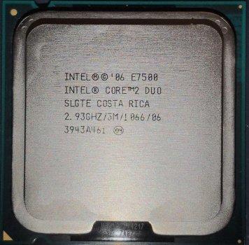Процесор Intel Core 2 Duo E7500 2.93 GHz/3M/1066 (SLGTE) s775, tray