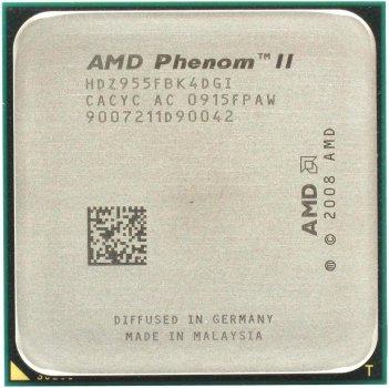 Процесор AMD Phenom II X4 955 Black Edition 3.2 GHz/6MB/2000MHz (HDZ955FBK4DGI) sAM3, tray