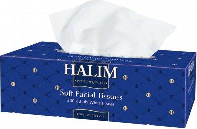 Упаковка серветок Halim двошарових 3 пачки по 200 шт. (4820229040863)