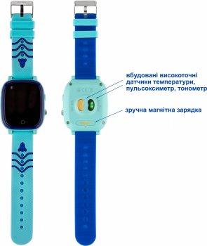 Дитячий смарт-годинник Amigo GO005 Splashproof 4G Wi-Fi Thermometer Blue (dwswgo5bl)