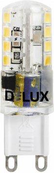 Світлодіодна лампа DELUX G9E 3 Вт 3000 K 220 В G9 (90009689) 4 шт.