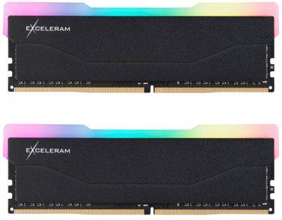 Оперативна пам'ять Exceleram DDR4-3200 16384 MB PC4-25600 (Kit of 2x8192) RGB X2 Series Black (ERX2B416326AD)