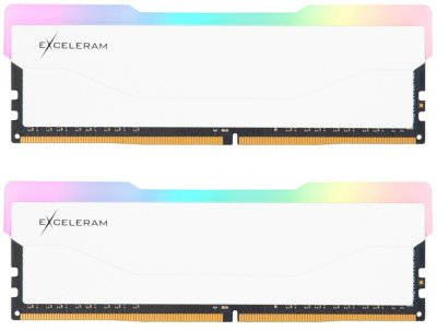 Оперативная память Exceleram DDR4-3200 32768MB PC4-25600 (Kit of 2x16384) RGB X2 Series White (ERX2W432326CD)