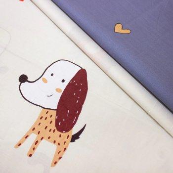 Комплект постельного белья MirSon Бязь 17-0314 Little Doggy Детский (2200002356732)