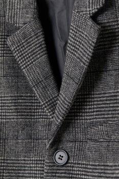 Пальто H&M 6986378-ACXW Темно-сіре
