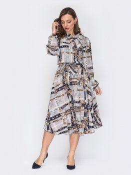 Плаття Dressa 53147 Сіре