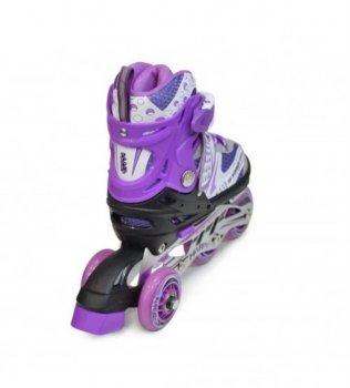 Комплект дитячих розсувних роликів на 4 повних розміру з захистом Maraton Combo ( набір захисту на коліна, лікті і долоньки, шолом під колір роликів, сумка для переноски )
