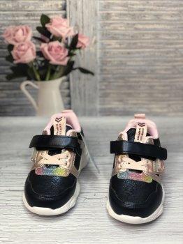 Дитячі кросівки для дівчинки BBT темно-сині з рожевим