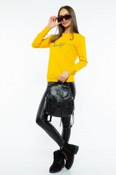 Свитшот женский с надписью Time of Style 600F001 Желтый