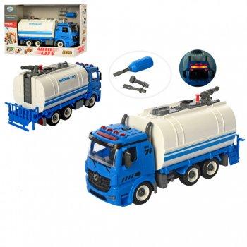 Детский игровой конструктор на шурупах Limo Toy City Development Синяя поливальная машина + отвертка