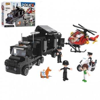 Детский игровой конструктор КВ Конструкторське Бюро Police Полицейский фургон черный 500+ деталей