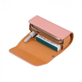 Чохол IQOS для IQOS 3/3 DUO (Айкос) з пресованої шкіри рожевий