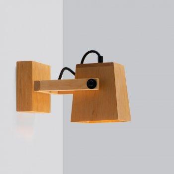 Бра дерев'яний настінний світильник у стилі лофт Gaff (Ubra)