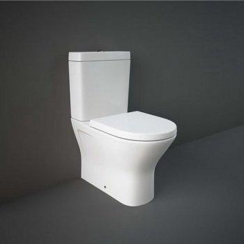 Унітаз підлоговий RAK Ceramics Resort 60 см, безободковий, без кришки, білий RST17AWHA