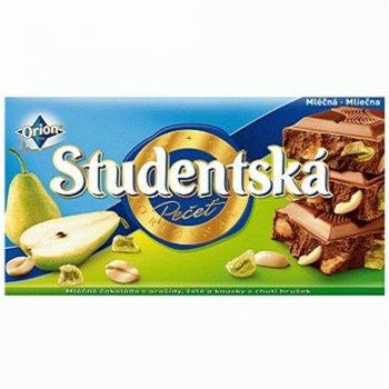 Молочный шоколад с арахисом и грушей Studentska pacet 180г (00-00000059)