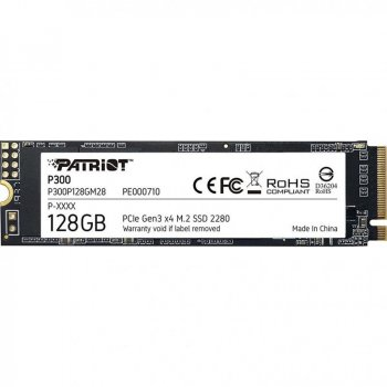 SSD 128GB Patriot P300 M. 2 2280 PCIe NVMe 3.0 x4 TLC (P300P128GM28)