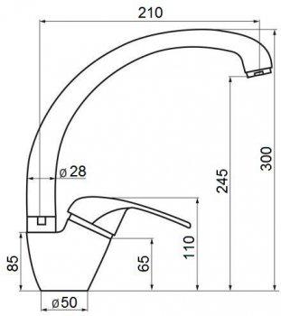 Кухонний змішувач GF (CRM)/S-03-012F