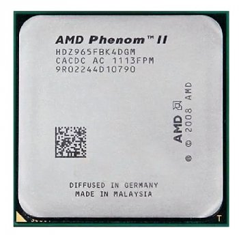 Процессор AMD Phenom II X4 965 Black Edition 3,4GHz AM3 Б/У