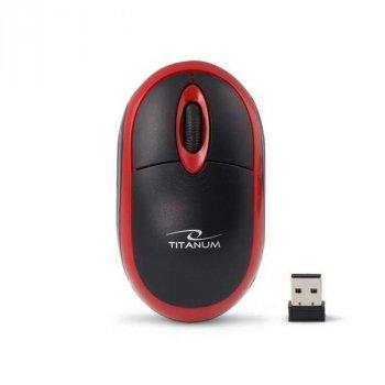 Миша бездротова Esperanza Titanum TM116R Black-Red USB